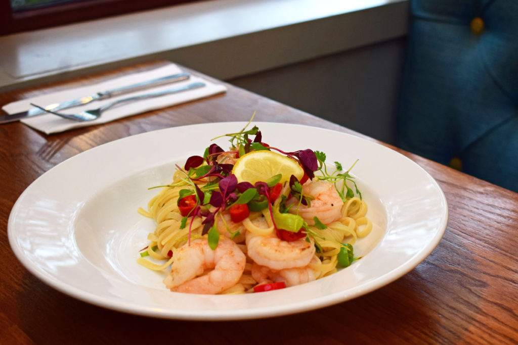 prawn linguine at Glen Lusset Bar Old Kilpatrick